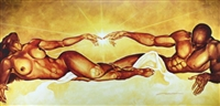 Connection By WAK Kevin A. Williams  18x36 Black Art Print Poster African-American