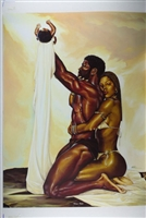 Divine Order By WAK Kevin A. Williams  24x32  Black Art Print Poster African-American