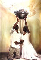 Give It All To God By WAK Kevin A. Williams  24x36 Black Art Print Poster African-American