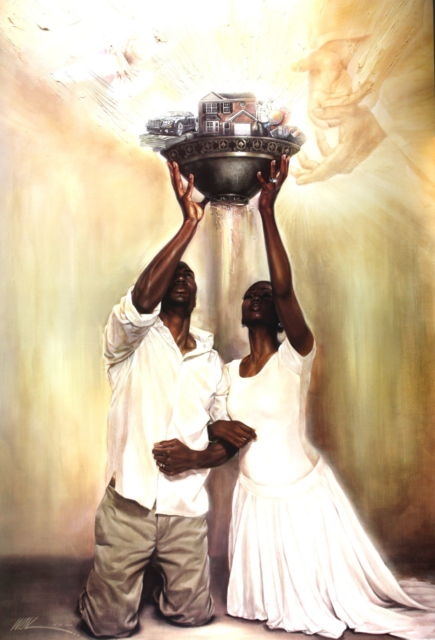 Give It All To God By Wak Kevin A Williams 24x36 Black
