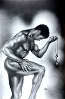 Lock & Key Male By WAK Kevin A. Williams  24x36  Black Art Print Poster African-American