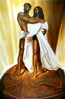 Power Of Love By WAK Kevin A. Williams  24x36 Black Art Print Poster African-American