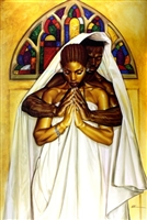 Pray Together Stay Together By WAK Kevin A. Williams  24x36 Black Art Print Poster African-American