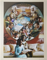 Time Shall Teach Thee Artist Edward Clay Wright  22x28 Black Art Print Poster African-american