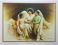 Angelic Lessons Artist Edward Clay Wright  22x28 Black Art Print Poster African-american
