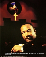 8x10 Inch Martin Luther Kg. at Church African American Black Art Print in Dr. Martin Luther King #X65-810-M