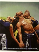 8x10 Inch United We Stand African American Black Art Faith Print in People in prayer #X78-810-I