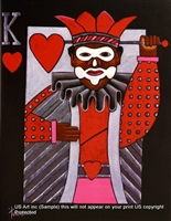 8x10 Inch King of Heart Fine Art Print Home Decor in Still Life #X82-810-C