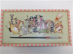 Lynne Andrews Fanciful Brush Box Pattern Packet