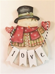 Lynne Andrews Loving Snowman Pattern Packet