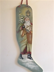 Victorian Father Christmas' Stocking fogged in  Pattern Packet