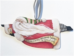 Lynne Andrews Great Joy flying Santa Ornament  Pattern Packet.