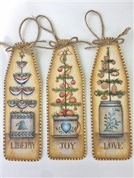 Lynne Andrews Christmas Crock Tree oh Ornament Pattern