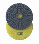 3 inch wet polishing pad, grit 200