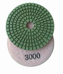 3 inch wet polishing pad, grit 3000