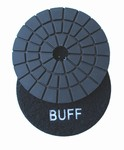 3 inch wet polishing pad, buff pad, black