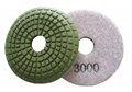 3 inch convex wet polishing pad, 3000grit