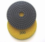 4 inch wet polishing pad, grit 200