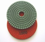 4 inch wet polishing pad, grit 1500