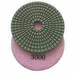 4 inch wet polishing pad, grit 3000