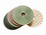 4 inch wet polishing pad set, white buff