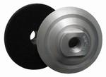 3 inch Velcro Back-up Pad, Aluminum, Rigid, 5/8 inch -11 Thread