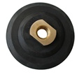 4 inch Velcro Back-up Pad,  Semi-rigid, M14 Thread