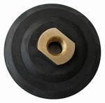 5 inch Velcro Back-up Pad, Semi-rigid, 5/8 inch -11 Thead