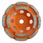 4 inch Double Row Cup Wheel, Coarse, 5/8 inch -11