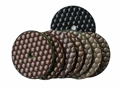 3 inch dry polishing pad set, Black buff