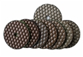 3 inch dry polishing pad set with black buff
