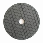 4 inch dry polishing pad, buff pad, black