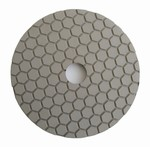 4 inch dry polishing pad, buff pad, white