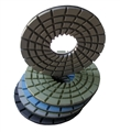 "5"" Concrete terrazzo diamond polishing pads, step 1 through 5"