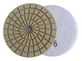 4 inch Edge Polishing Pad, Velcro Back, White Buff