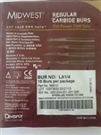 Midwest Dentsply Carbide Round Bur LA 1 4 Pack of 10 Dental Latch Type