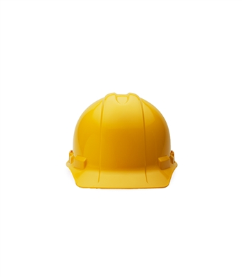 Yellow Non-Vented Hard Hat with Pinlock Adjustment