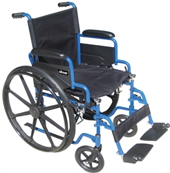 Blue Streak Wheelchair with Flip-Back Arms