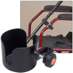 The Wheelchair Cup Holder and Cane Holder Combo