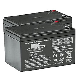 MK - 12V 12AH Sealed Lead Acid (2) Batteries