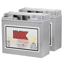 MK - 12V 18AH Sealed Lead Acid (2) Batteries