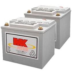 MK - 12V 50 AH Sealed Gel (2) Batteries