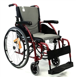 Karman Ergo S-125 Ergonomic Folding and Flip Back Arms Wheelchair