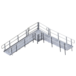 PVI Modular XP Ramp - with Handrails, 42 Inches Wide