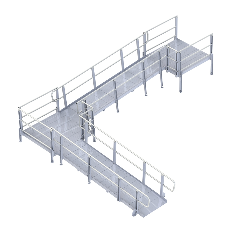 PVI Modular XP Ramp, with Handrails, 48 Inches Wide ...