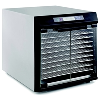 Excalibur Glass Door 10 Tray Stainless Steel Dehydrator