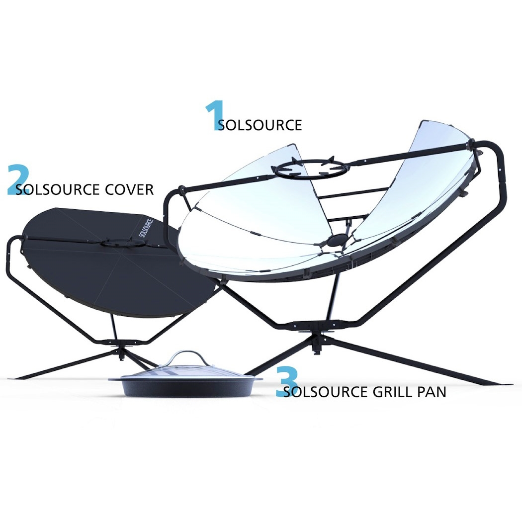 Solsource Parabolic Solar Cooker Grill And Stove Oven Diagram