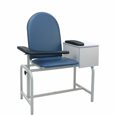 Winco 2572 Phlebotomy Chair - Padded Seat & Drawer