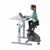 C3-DT5 Manual Adjust Standing Desk with Bike