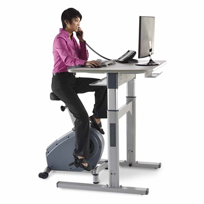 C3-DT7 Electronic Adjust Standing Desk with Bike